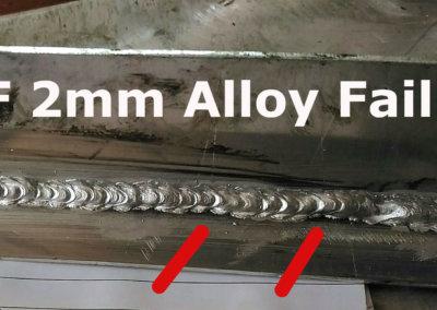 2F 2mm Alloy Fail